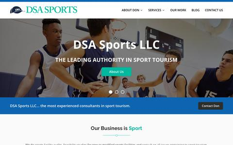 Screenshot of Home Page dsasports.com - DSA Sports - Our Business is Sport - captured Oct. 12, 2017