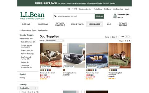 Dog Beds and Accessories | Free Shipping at L.L.Bean