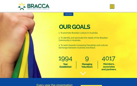 Screenshot of About Page bracca.org - BRACCA | ABOUT US - captured Oct. 5, 2018