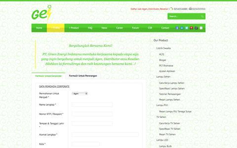 Screenshot of Signup Page pt-gei.com - Join - PT. Green Energi Indotama - captured Oct. 15, 2016