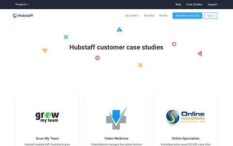 Screenshot of Case Studies Page hubstaff.com - Hubstaff Customer Case Studies - captured Jan. 14, 2018