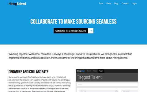 Screenshot of Team Page hiringsolved.com - Team Plan | HiringSolved - captured Oct. 28, 2014