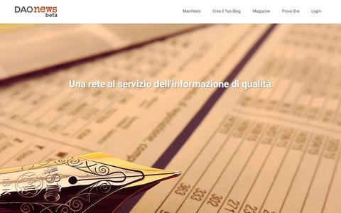Screenshot of Home Page daonews.com - | DaoNews.com - captured Jan. 28, 2015
