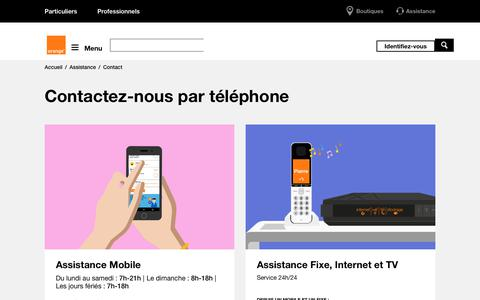 Screenshot of Contact Page orange.fr - Contact | Orange Caraïbe - captured Sept. 23, 2018