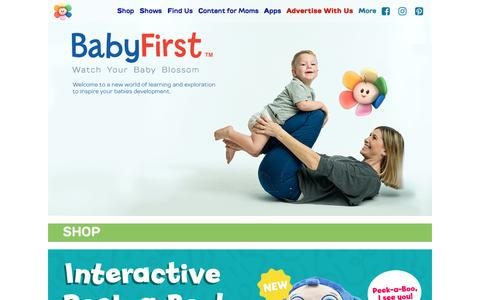 Screenshot of Home Page babyfirsttv.com - BabyFirst TV – BabyFirst Site, Baby Toys and Safe Free Games, Early Childhood Education, Toddler Videos - captured May 8, 2017