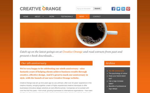Screenshot of Press Page creativeorange.co.uk - Our 9th anniversary - Creative Orange - captured Sept. 9, 2017