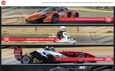 Screenshot of Home Page simraceway.com - Simraceway - captured Oct. 18, 2018