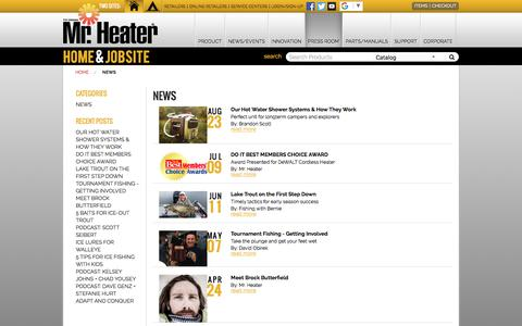 Screenshot of Press Page mrheater.com - Blog - News - captured Sept. 22, 2018