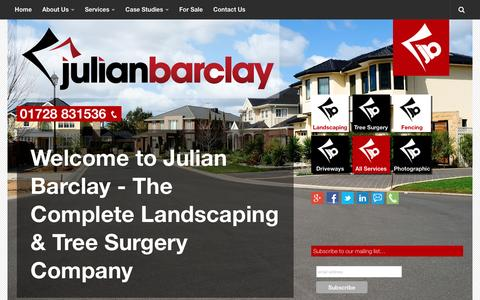 Screenshot of Home Page julianbarclay.com - Welcome to Julian Barclay - The Complete Landscaping & Tree Surgery Company - captured Jan. 9, 2016