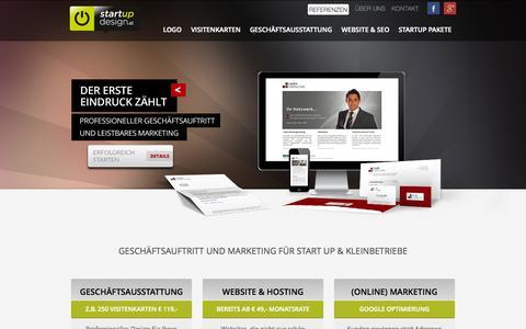 Screenshot of Home Page startup-design.at - STARTUP DESIGN Wien - Logo | Website | Print | Marketing - captured Sept. 19, 2014