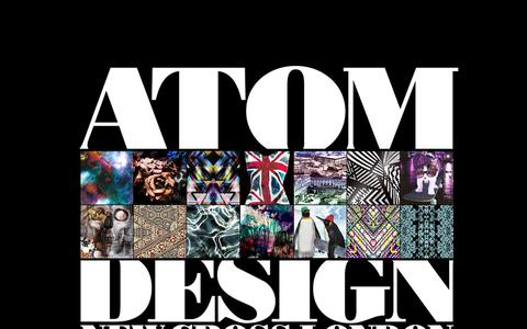 Screenshot of Home Page atomdesigns.co.uk - ATOMDESIGN - ATOMDESIGN - captured Sept. 30, 2014