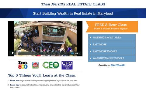 Screenshot of Landing Page fortunebuilders.com - Than Merrill's Real Estate Class - captured Jan. 21, 2017