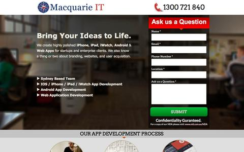 Screenshot of Landing Page mit.com.au - App Developer Sydney - captured June 1, 2016
