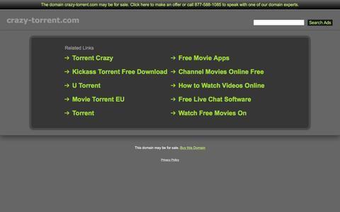 Screenshot of Home Page crazy-torrent.com - Crazy-Torrent.com - captured Jan. 17, 2016