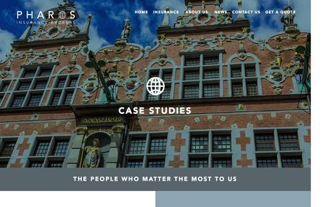 Screenshot of Case Studies Page pharos.co.uk - Pharos - captured Nov. 5, 2016
