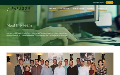 Screenshot of Team Page myagadvisor.com - Meet Our Team - Paragon Ag Advisory - captured Sept. 26, 2018