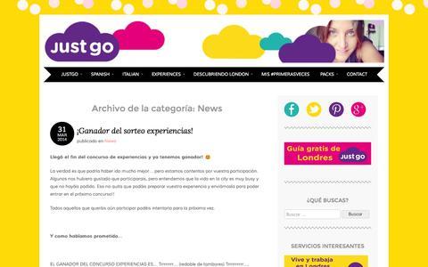 Screenshot of Press Page vidaenlondres.com - News   JustGo - captured Nov. 5, 2014