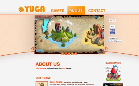 Screenshot of About Page yugagames.com - Yuga | About - captured Oct. 7, 2014