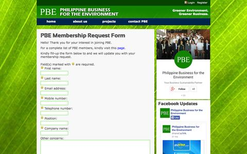 Screenshot of Signup Page thepbe.org - PBE : Membership Form - captured Oct. 2, 2014