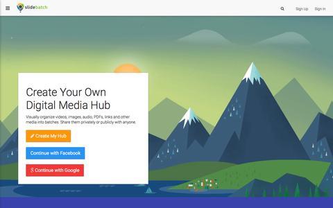 Screenshot of Home Page slidebatch.com - SlideBatch - captured Feb. 14, 2016