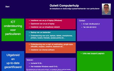 Screenshot of Home Page outwit.nl - Outwit Computerhulp - captured Oct. 7, 2014