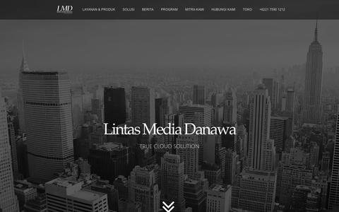 Screenshot of Home Page lintasmediadanawa.com - Lintas Media Danawa – TRUE CLOUD SOLUTION - captured May 20, 2017