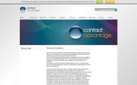 Screenshot of Terms Page contact-advantage.com - Terms of Use | Contact Advantage - captured Oct. 3, 2014