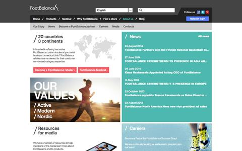 Screenshot of About Page footbalance.com - About us | FootBalance - captured Oct. 1, 2014