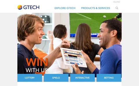 Screenshot of Home Page gtech.com - GTECH.COM | - captured Jan. 23, 2015