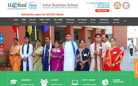 Screenshot of Home Page iiebm.com - Best Management Institute | PGDM Institutes in Pune, India | IIEBM - captured Nov. 14, 2018