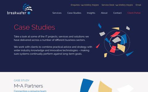 Screenshot of Case Studies Page breakwaterit.co.uk - IT Insights & News   Breakwater IT - captured Aug. 3, 2018