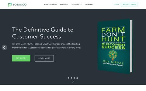 Screenshot of Home Page totango.com - Totango | Customer Success Software - captured Nov. 12, 2016