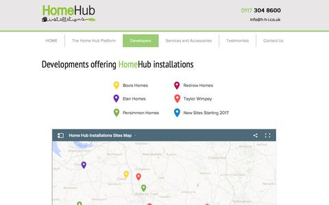 Screenshot of Developers Page Locations Page homehubinstallations.co.uk - h-h-i | Developers - captured May 21, 2017