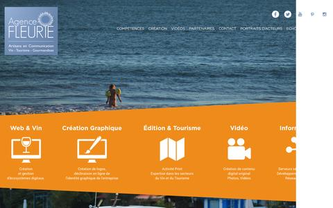 Screenshot of Home Page agence-fleurie.com - Agence Fleurie - Artisans en Communication - captured July 24, 2016