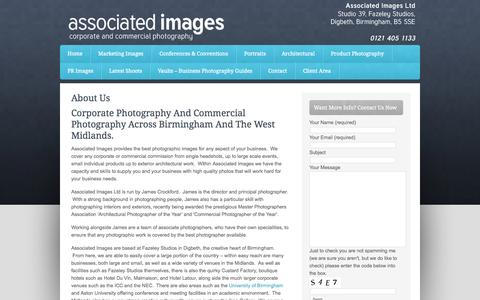 Screenshot of About Page associatedimages.co.uk - About The Photographer - Corporate Photos - captured Oct. 4, 2014