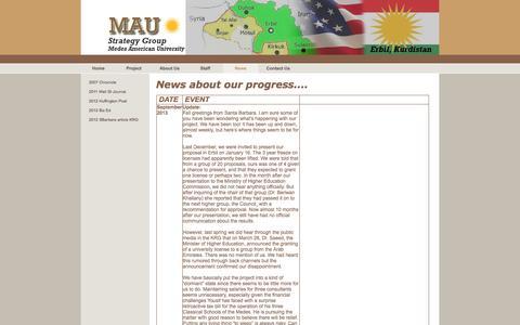 Screenshot of Press Page maustrategygroup.com - News - MAU Strategy Group - captured May 3, 2016