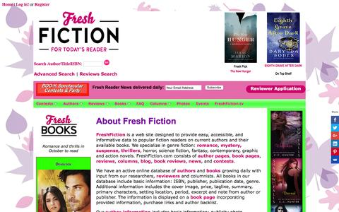 Screenshot of About Page freshfiction.com - Frequently Asked and Responses - captured Oct. 27, 2015