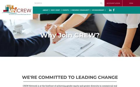 Screenshot of Signup Page mncrew.org - MNCREW - Why Join? - captured June 29, 2018