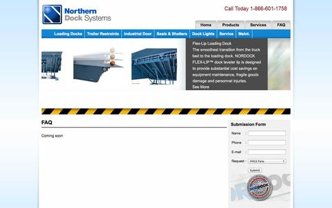 Screenshot of FAQ Page northerndocksystems.com - FAQ - Northern Dock Systems | HVLS Fans - captured Oct. 26, 2014