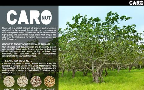 Screenshot of About Page caro-nut.com - Caro Nut   –  Corporate - captured Sept. 13, 2014