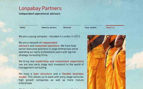 Screenshot of About Page lonpabay.com - Lonpabay Partners | About us - captured Sept. 8, 2017