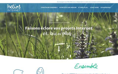 Screenshot of Home Page helios-internet.com - Helios Internet : Création de sites Web sur-mesure et bien plus ! - captured May 17, 2017