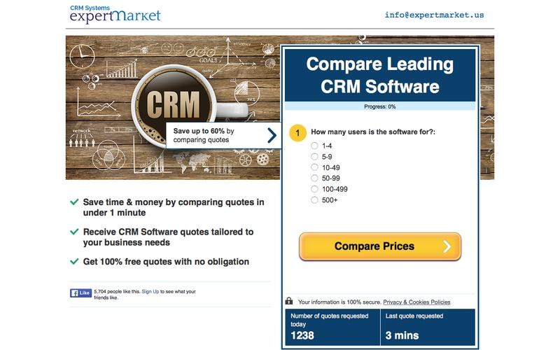 Compare CRM Software Prices! | Expert Market US