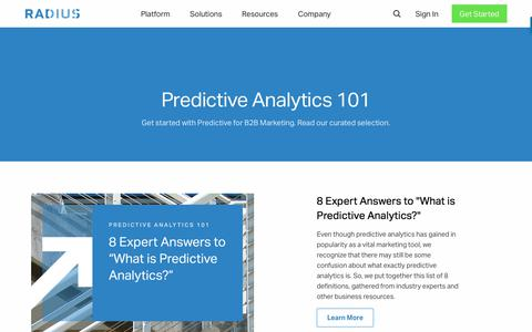Predictive B2B Marketing Software & Analytics • Radius • 101
