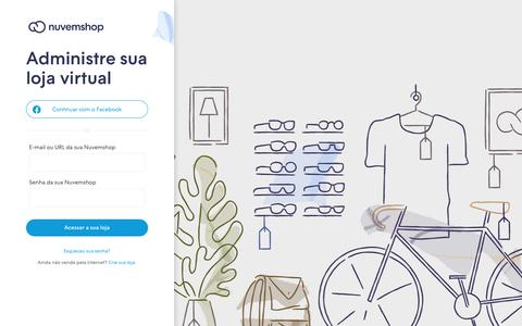 Screenshot of Login Page nuvemshop.com.br - Entrar na minha Nuvemshop - captured June 1, 2019