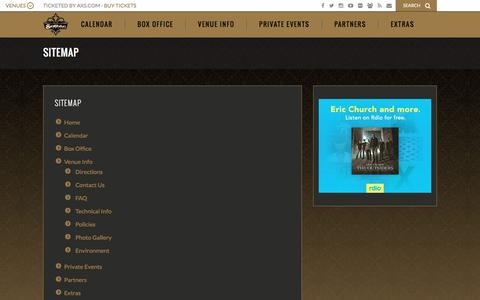 Screenshot of Site Map Page gothictheatre.com - Sitemap - captured Dec. 13, 2015