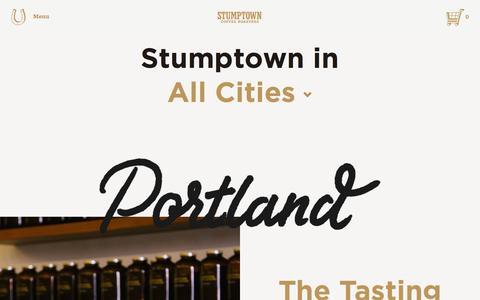Screenshot of Locations Page stumptowncoffee.com - Stumptown Coffee Roasters | Coffee Shop Locations - captured Nov. 17, 2015