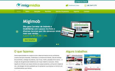 Screenshot of Home Page migmidia.com.br - Migmidia - Criação e Desenvolvimento de Sites - captured Oct. 7, 2014