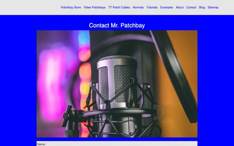 Screenshot of Contact Page misterpatchbay.com - Custom Order from Mr. Patchbay - captured Oct. 31, 2018