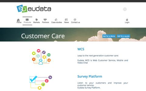 Screenshot of Products Page eudata.biz - Eudata | Products - captured Sept. 30, 2014